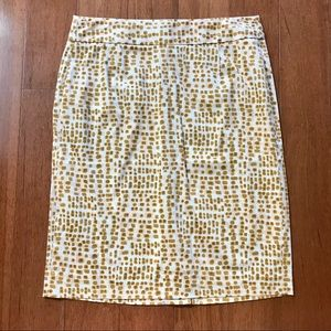 J. Crew Patterned Abstract Dot Skirt